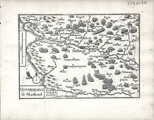 Antique maps, gouvernement de montreuil