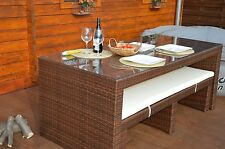 EXclusive GARTENLOUNGE-POOL-LOUNGE- SITZGRUPPE- ESSGRUPPE-POLYRATTAN-IN-OUTDOOR