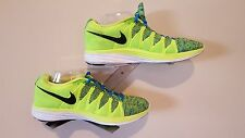 Nike Mens Shoes Flyknit Lunar 2 Lime Green & Blue - Size 10
