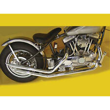 Chrome Upswept Slash Exhaust Pipe Set for Harley Rigid Ironhead Sportster