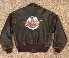 Vintage Avirex Type A-2 Flights Bomber Brown Leather Jacket Size L. Made In USA