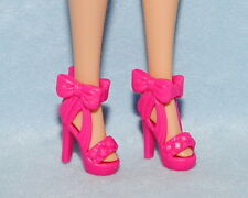 DARLING! Hot Pink Open Toe Heels w/ Bow Accents Genuine BARBIE Shoes