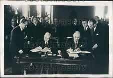 1948 Romania Premier Petru Groza Hungary Premier Lajos Dinnyes Press Photo