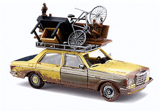 HO Busch 46858 Weathered 1977 Mercedes Benz W123 with Overloaded Roof Rack