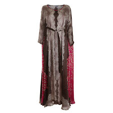 Issa London Oversized Printed Silk Kaftan Dress Size UK 12 US 8 L Large