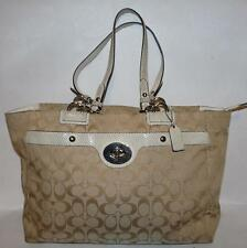 Beige Coach Penelope Signature Carryall Snake Embossed Trim Hang Tag #16541