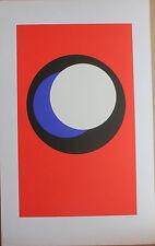CLAISSE Geneviève Sérigraphie signée numérotée abstrait géométrique 1967 cercles