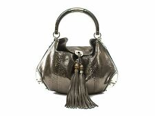 Authentic Gucci Python silver Large Indy Hobo top handle