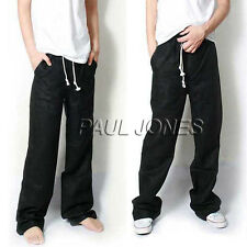 CHEAP Mens Summer Loose Linen Leisure Casual Trousers Slacks Sports Beach Pants
