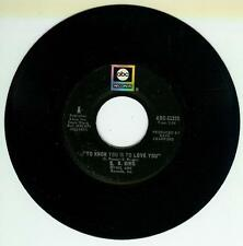 B B KING SINGLE TO KNOW YOU IS TO LOVE YOU / I CAN'T LEAVE US ABC 45-11373