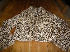 Sensational velvet by Graham & Spencer imprimé léopard fourrure synthétique cropped jacket, m