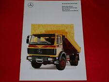 MERCEDES Mittelschwere Klasse Baustellenfahrzeuge Prospekt von 1991