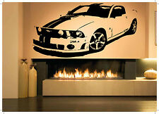 Wall Room Decor Art Vinyl Sticker Mural Decal Race Car Fast Muscle Poster AS1763