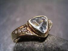 REIF-DESIGN - SCHICKER DIAMANT UND AQUAMARIN RING - 585 GELBGOLD