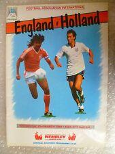 1988 Official Souvenir Programme ENGLAND v HOLLAND, 23rd March