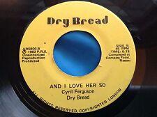 Hear Rare Island Soul Funk 45 : Cyril D. Ferguson ~ Dry Bread ~ On The Island