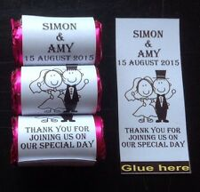 60 Personalised Love Heart Sweet Wrappers, Wedding, Favours,gift, Celebration