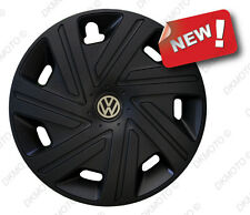"4x15 ""Copricerchi per VW Golf Caddy Golf Touran POLO NERO SET COMPLETO 4 x 15"""