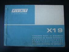 FIAT X 1/9 CATALOGO PARTI DI RICAMBIO ORIGINALE USATO NO COPY
