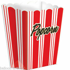 8 Hollywood Party Movies Cinema SMALL 13cm Popcorn Boxes