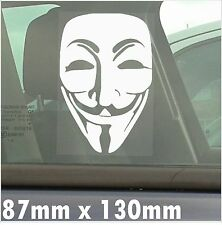 We are the Anonymous-Vendetta-Self Adhesive Window Vinyl Sticker-Car,Van,Sign