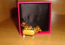 NEW JUICY COUTURE DACHSHUND IN A HOT DOG BUN CHARM FOR BRACELET/NECKLACE