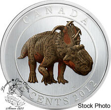 Canada 2012 25 Cents Pachyrhinosaurus Lakustai Dinosaur Glow in the Dark Coin