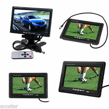 "7"" TFT LCD Digital Color Screen Car Monitor for Backup Rear View Camera DC 12V"