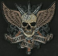 DEATH BEFORE DISHONOR DEATH SKULL SWORDS & WINGS MOTORCYCLE MILITARY BIKER PATCH