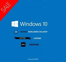 MICROSOFT WINDOWS 10 PRO 32/64 BIT GENUINE LICENSE KEY PRODUCT CODE