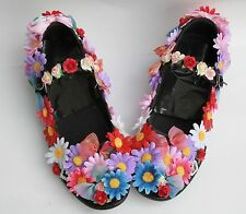 FLOWER FAIRY DAISY ALICE SHOES FLATS  GOTHIC LOLITA ALT KAWAII PASTEL GOTH 39 6