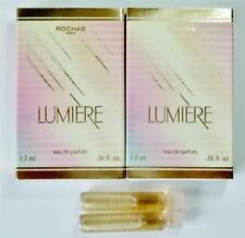 LUMIERE by ROCHAS Women EDP 1.7 ml .06 oz Sample Vial X 2 * New in Box *