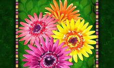 "Gerbera Daisy Flower Indoor Outdoor Floor Mat 18"" x 30"""