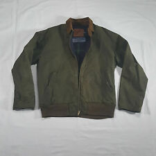 Polo Ralph Lauren SPORTSMAN Oiled Cotton Jacket SMALL Corduroy Green VTG 90s USA