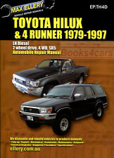 TOYOTA DIESEL SHOP MANUAL SERVICE REPAIR BOOK ELLERY HILUX 4RUNNER
