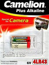 6v 4LR43  PX27A Camelion Alkaline battery , replacement  for 6 volt PX27 mercury