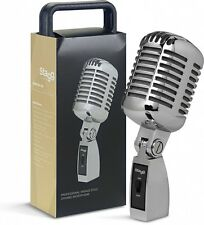Stagg SDM100 CR Professional Vintage Style Cardioid Dynamic Microphone