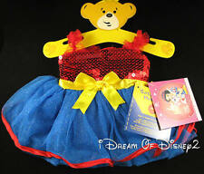 BUILD-A-BEAR PALACE PETS DISNEY SNOW WHITE BERRY DRESS TEDDY CLOTHES COSTUME NEW