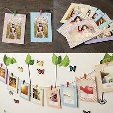 DIY Photo Paper Flim Wall Stand Picture Hanging Album Frame With Hemp Rope Clips