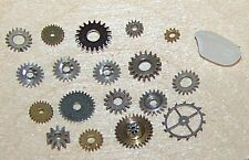 Gears Lot Watch Parts 20 TINY Small STEAMPUNK Variety Mix Cogs ONLY Mixed Pieces