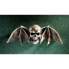 Skull Wings Statue Wall Art Sculpture Medieval Gothic Halloween Entryway Decor