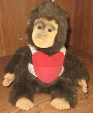 Vintage Hosung Monkey Chimpanzee Plush Hand Puppet with Mouth Squeaker EUC 1994