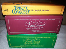 1980s Trivial Pursuit Baby Boomer & All Sports Card Sets, book, code card, ads