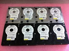 "(Lot of 8) Western Digital 500GB 7200RPM 3.5"" SATA Desktop Hard Drives - C1345"