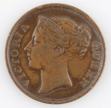 1845 STRAITS SETTLEMENTS 1/2 CENT VERY FINE COIN