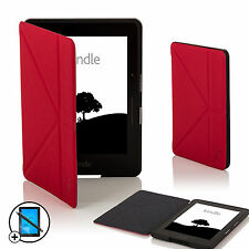 De Cuero Rojo Smart Origami Funda Para Amazon Kindle Voyage + Screen Prot & Stylus