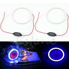 1pc 60mm COB 66 Chips Car Angel Eyes Headlight Halo Ring Decorative Light Blue