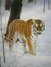 Charles Frace Siberian Tiger in the Snow Mini Art Print
