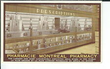 AY-137 - Pharmacy Montreal Store Interior Advertising Postcard, Canada 1901-07