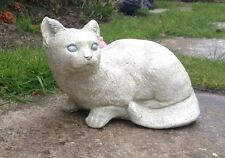 Stone Cat - Kitten Ornament Garden & Home Gift / Remembrance Birthday Christmas